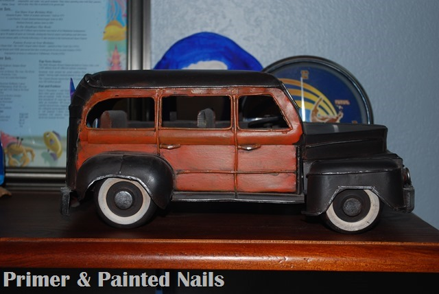 Woody Car - Primer&Painted Nails