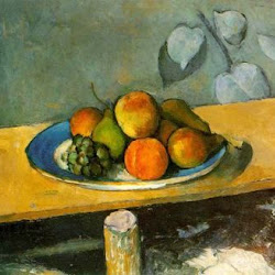 Paul Cezanne (1879-1880): Apples, Peaches, Pears and Grapes. Museo del Hermitage. San Petersburgo. Postimpresionismo