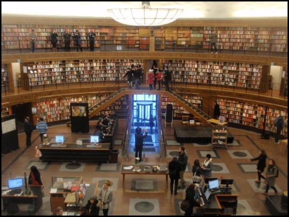 Bibliothèque Riksdagen, suédois Parlement Bibliothèque, Stockholm, Suède-2