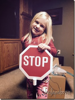 grace and stop sign