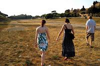 Walking through Circus Maximus