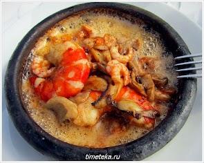 Блюдо из моллюсков в Анадолу Кавагы.
