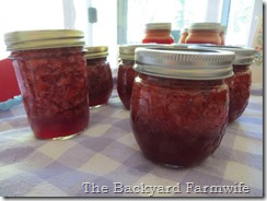 strawberry canning day - The Backyard Farmwife