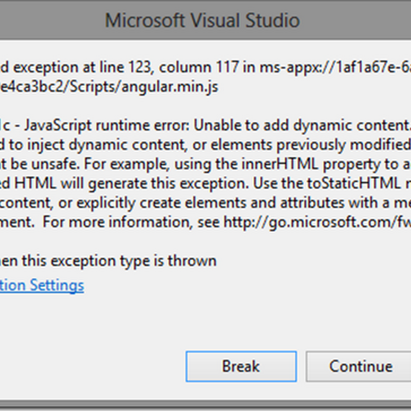 Getting Started with AngularJS in a Windows 8 JavaScript app