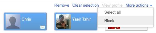Block a person in Google+
