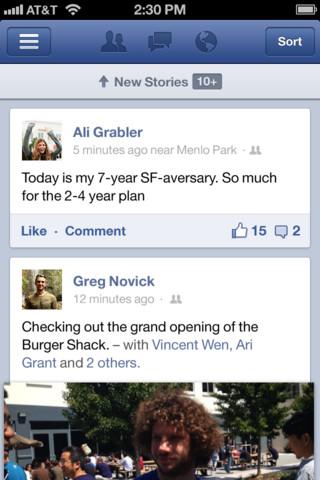 Facebook en el iphone
