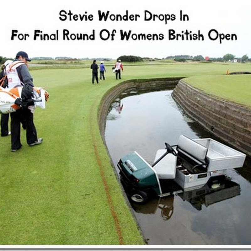 Stevie Wonder at Women's British Open