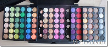 buyincoins.Pro 96 Full Color Eyeshadow Palette Eye Shadow Brush #2.paleta.96.color.eye.shadow.sombras.open.96.colores