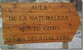 Cartel del aula de la naturaleza Monte del Coto - Pinoso