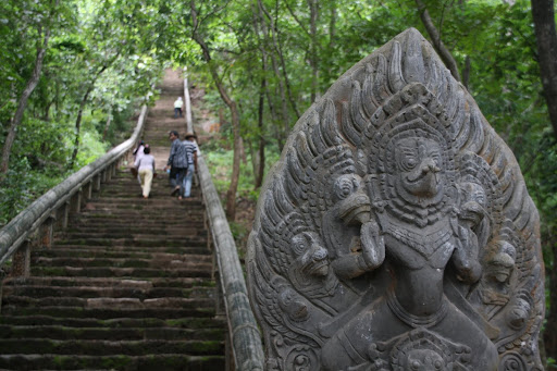The steps leading to Phnom Banan