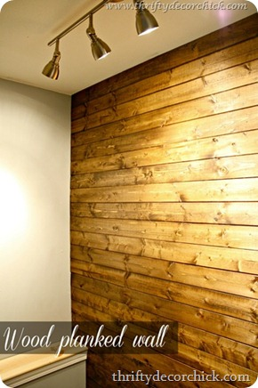 stained wood wall