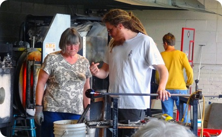 glass blowing teacher