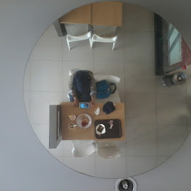 circle by  indri Aprianti - Artistic Objects Cups, Plates & Utensils ( mirror, food, circle, place, alone )