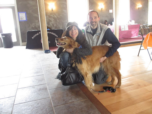 Dr. Pia, Mark and fabulous therapy dog Dutchess!