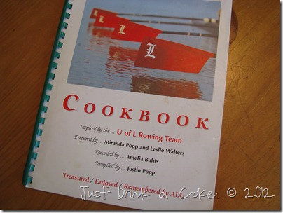 university of louisville rowing team cookbook