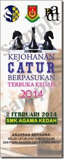 Kejohonan Catur Berpasukan Kedah 2014 SMKA Kedah