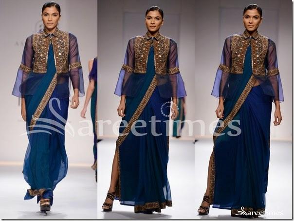 Ashima_Leena_Blue_Saree