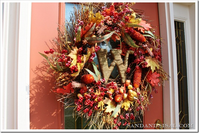 Fall wreath with Letter Initial