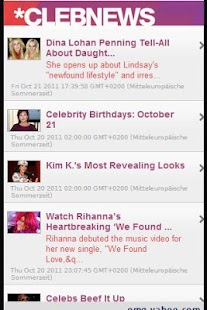 All celebrity news and gossip - screenshot
