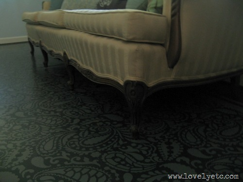 couch on painted floor
