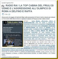STADIOTARDINI COM AGGRESSIONE RADIO RAI
