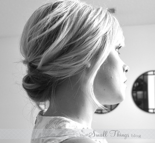chic updo tutorial short hair