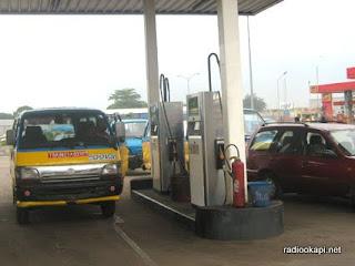 Une station service à Kinshasa.