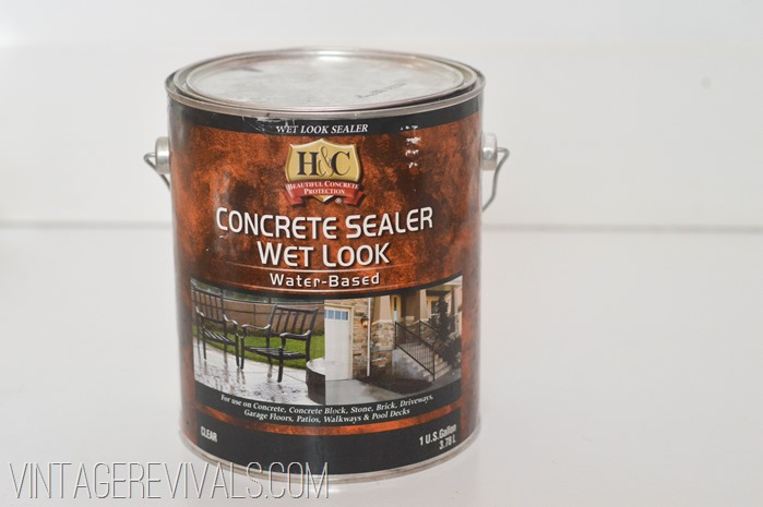 How To Paint and Clean Concrete Floors Full Tutorial @ Vintage Revivals-13