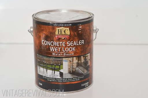How To Paint And Clean Concrete Floors Full Tutorial @ Vintage Revivals 13