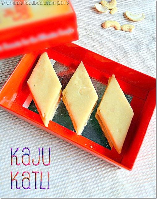Kaju katli-box recipe