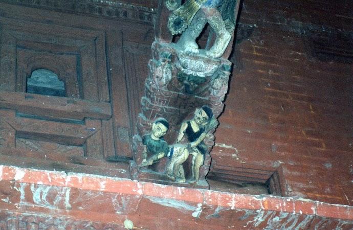 Obiective turistice Nepal: scene erotice Kathmandu