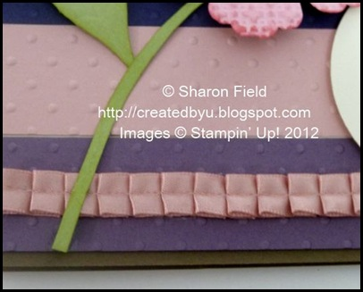 hand cut stem, sponged and added to flower