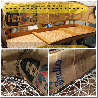 upholstery-sewing burlap- pmc