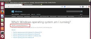 Il sito Microsoft riconosce Ubuntu come Windows 8.1