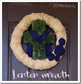 Lenten Wreath close-up