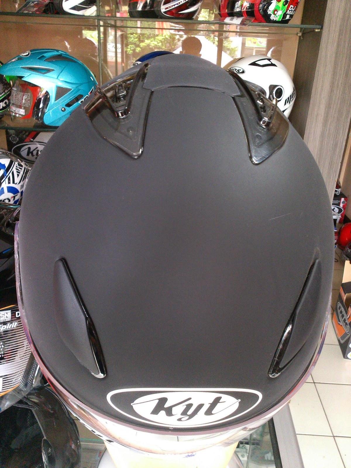 Almer Helmet KYT DJ MARU BLACK DOFF