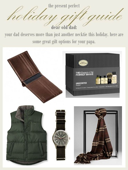 2012.12.18 - Holiday Gift Guide - Dear Old Dad