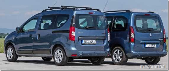 Dacia Dokker vs Peugeot Partner Teepee 03