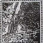 Montée au Puy gravure sur bois tirage numéroté à 10 70€