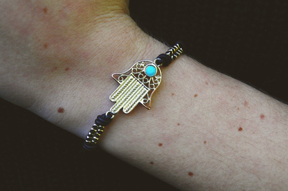 The Pretty Junk Hamsa bracelet
