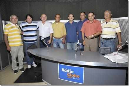 01/06/2012 - NATAL - EQUIPE RADIO GLOBO.<br />FOTO: ALBERTO LEANDRO/H/SELECIONADAS