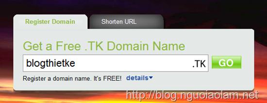 blog thiết kế - hướng dẫn đăng ký tên miền dot.tk