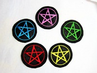Pentacle Embroidred Patch