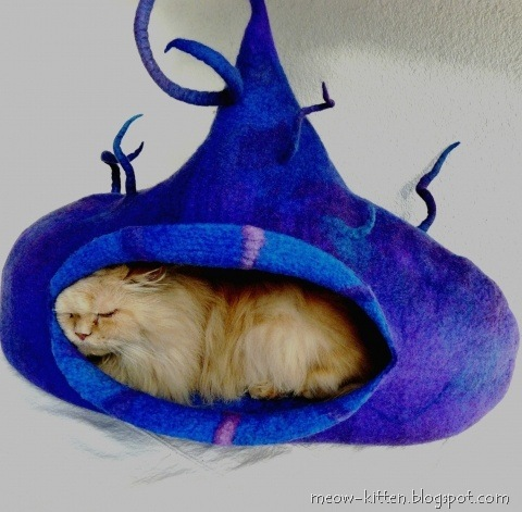 wet felted cat tent