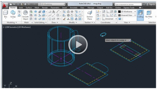 AutoCAD-2D-To-3D-Video