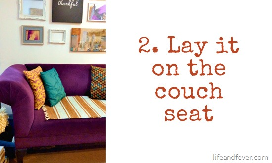 doormat on couch