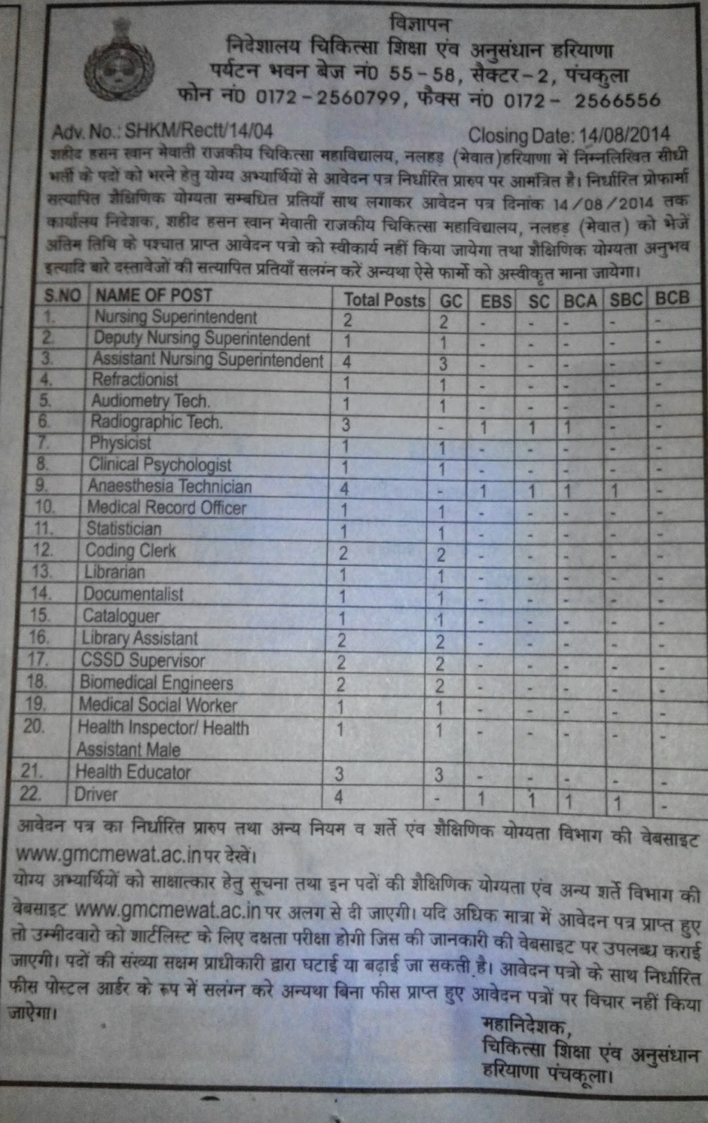 library soup  vacancy of librarian and library assistant in medical college mewat haryana