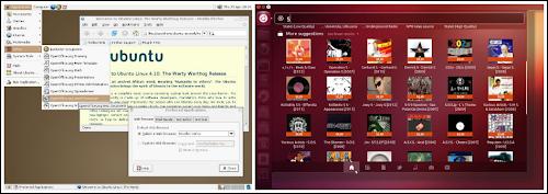 i cambiamenti dell'ambiente desktop da Ubuntu 4.10  Warty Warthog al nuovo 12.10 Quantal Quetzal