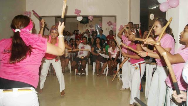 Ação social do Movimento Capoeira Mulher no Hospital Ophir Loyola