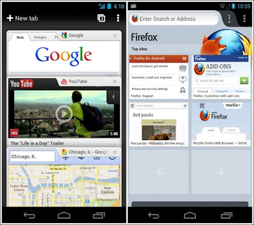 Chrome 26 e Firefox 20 per Android